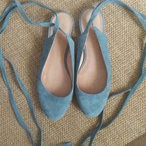 Madewell shoes, ballet flats with ties